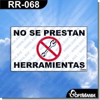 Lee el articulo completo Rotulo Prefabricado - NO SE PRESTA HERRAMIENTA
