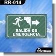 ROTULOS PREFABRICADOS EVACUACION